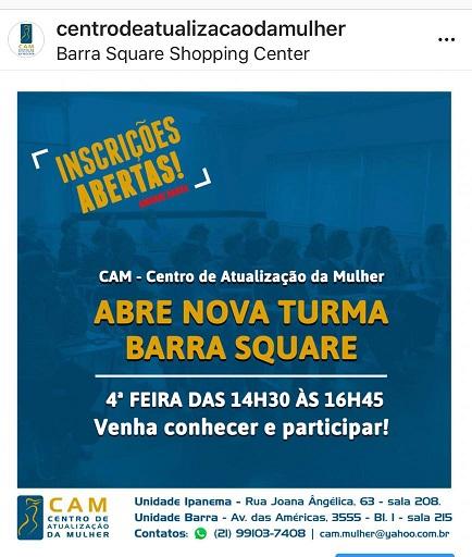 CAM abre nova turma na Barra