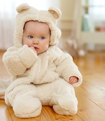 O bebê no inverno