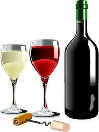 A garrafa de vinho