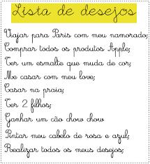Lista de desejos