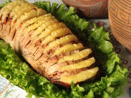Lombo ao molho de abacaxi e gengibre