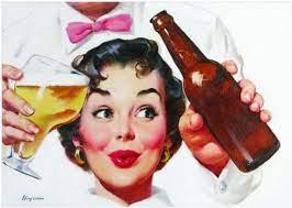 A mulher na propaganda de cerveja
